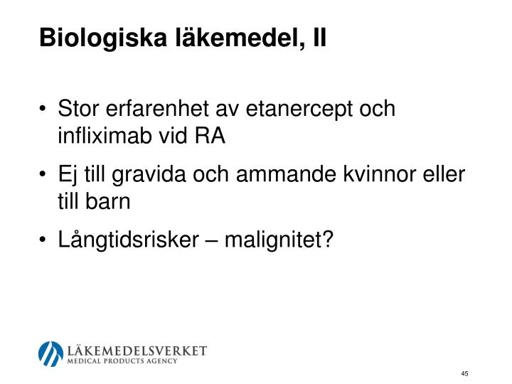Biologiska läkemedel, II