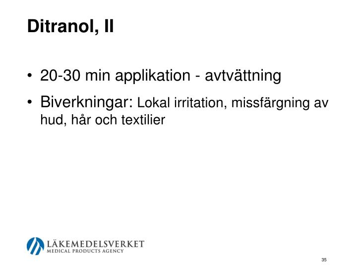Ditranol, II