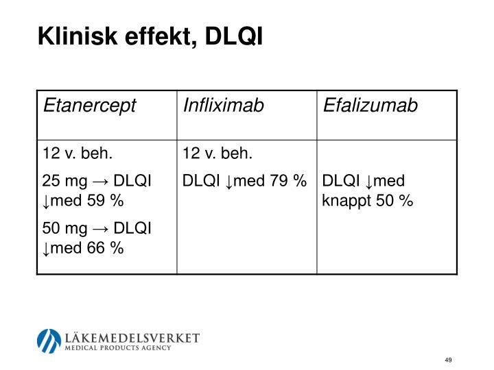 Klinisk effekt, DLQI