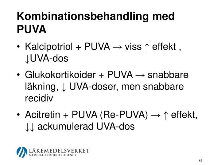 Kombinationsbehandling med PUVA