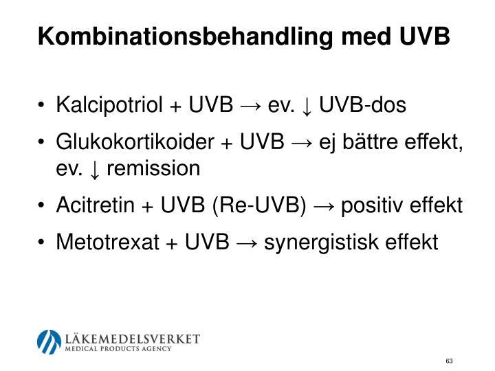 Kombinationsbehandling med UVB