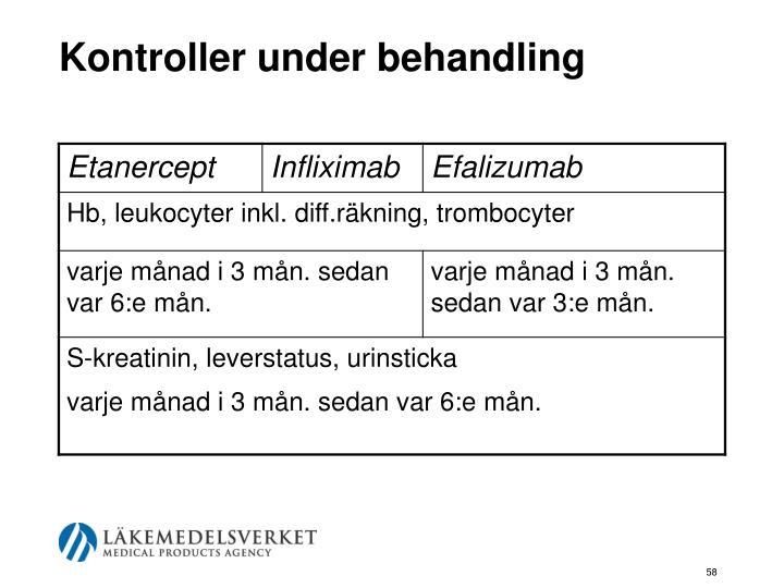 Kontroller under behandling