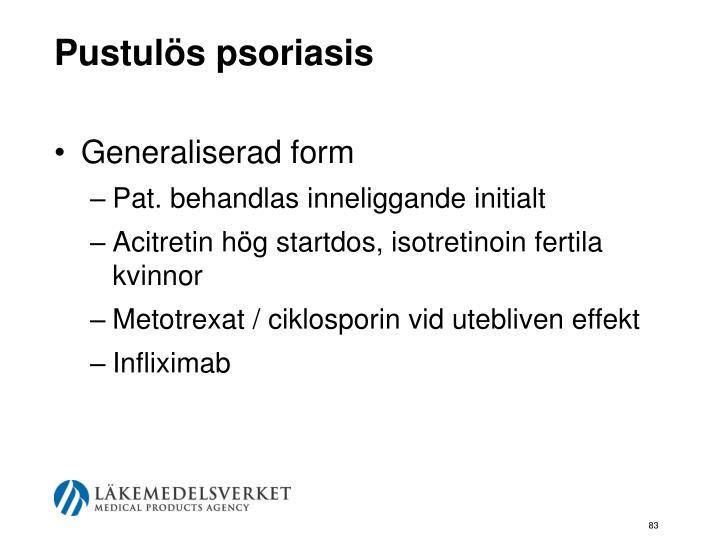 Pustulös psoriasis