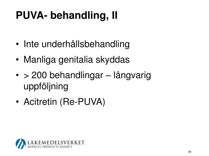 PUVA- behandling, II