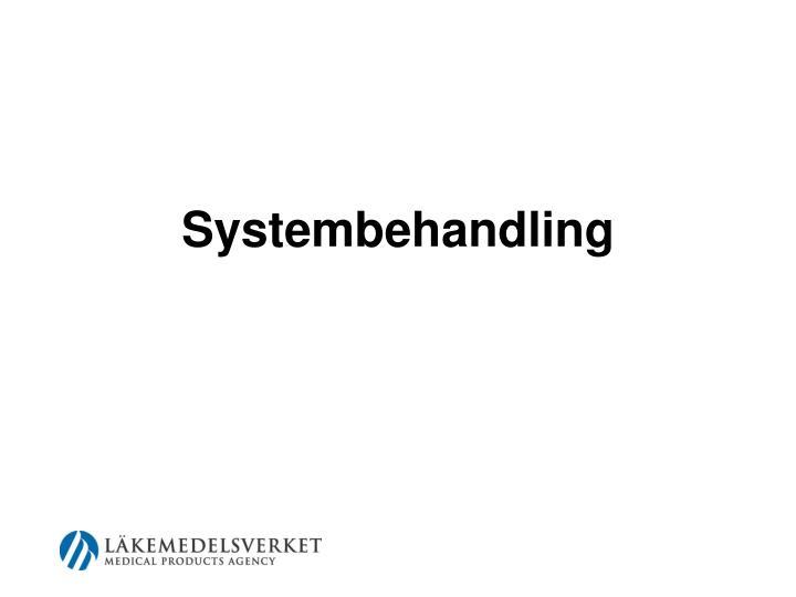 Systembehandling