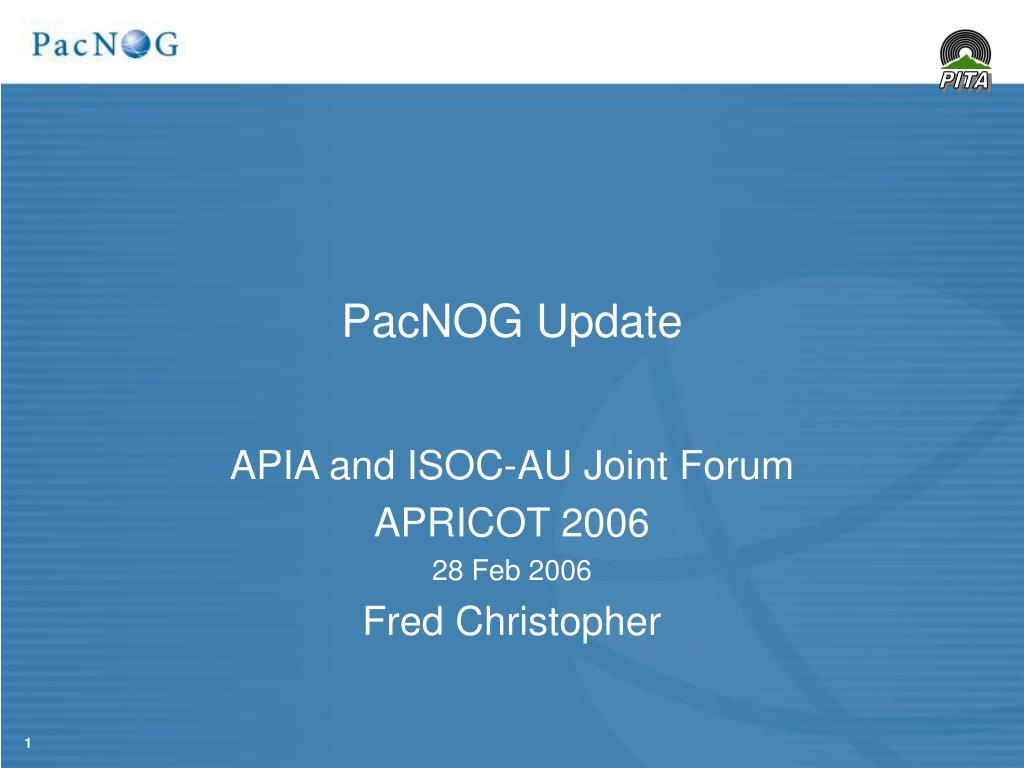 PacNOG Update