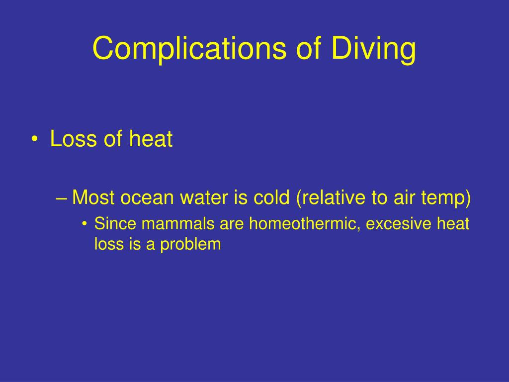 Complications of Diving