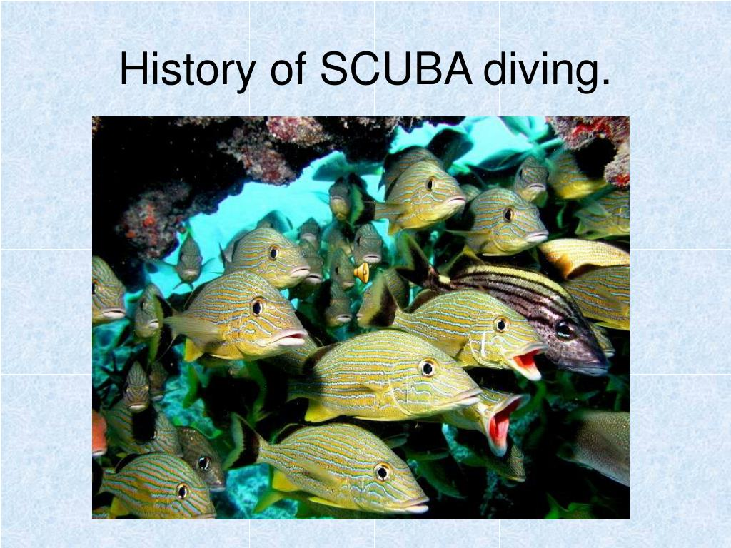 History of SCUBA diving.