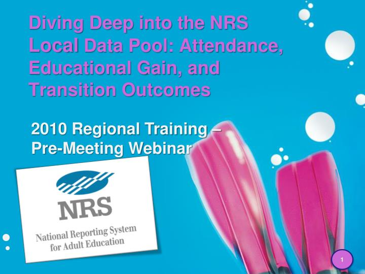Diving deep into the nrs local data pool attendance educational gain and transition outcomes