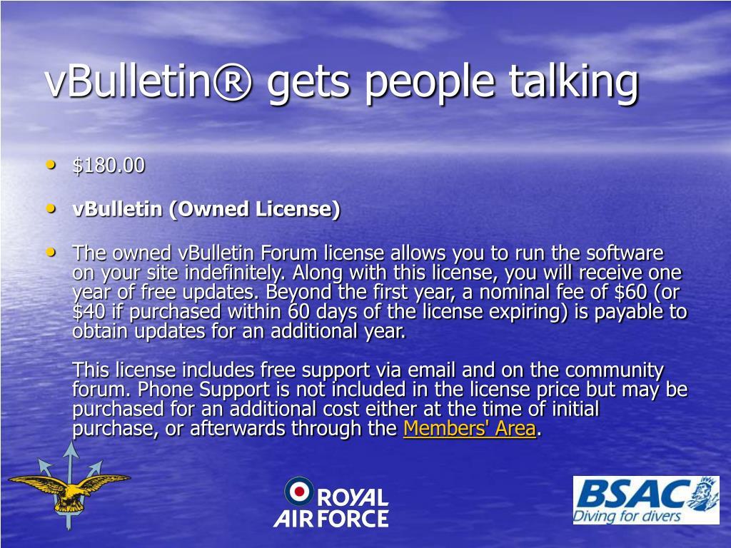vBulletin® gets people talking