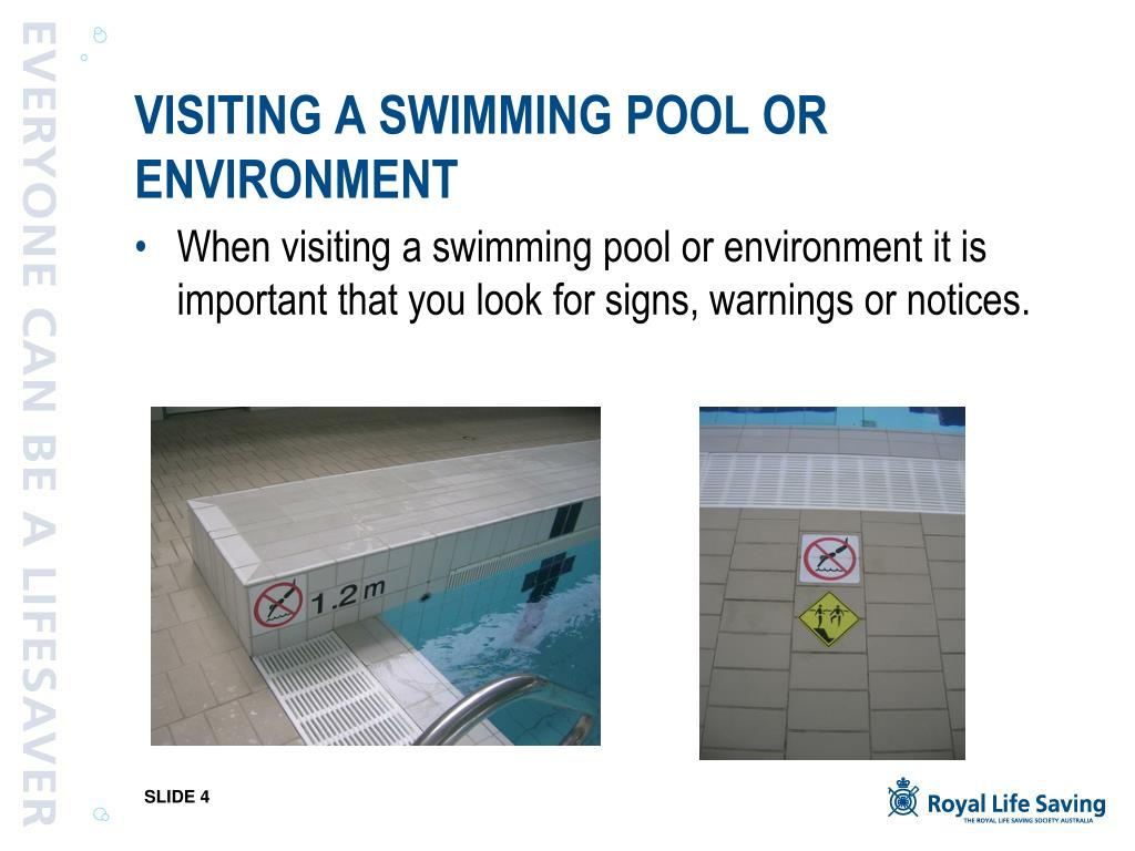 VISITING A SWIMMING POOL OR ENVIRONMENT