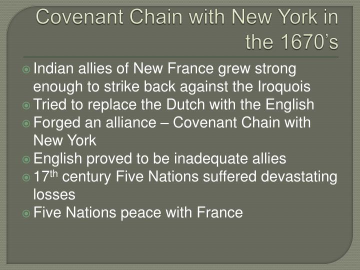 Covenant Chain with New York in the 1670's
