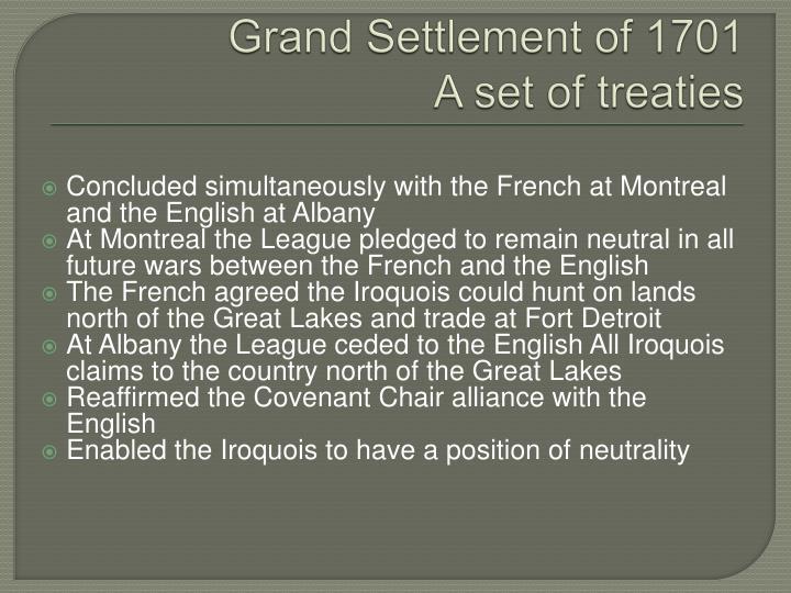 Grand Settlement of 1701