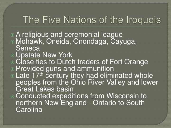 The Five Nations of the Iroquois