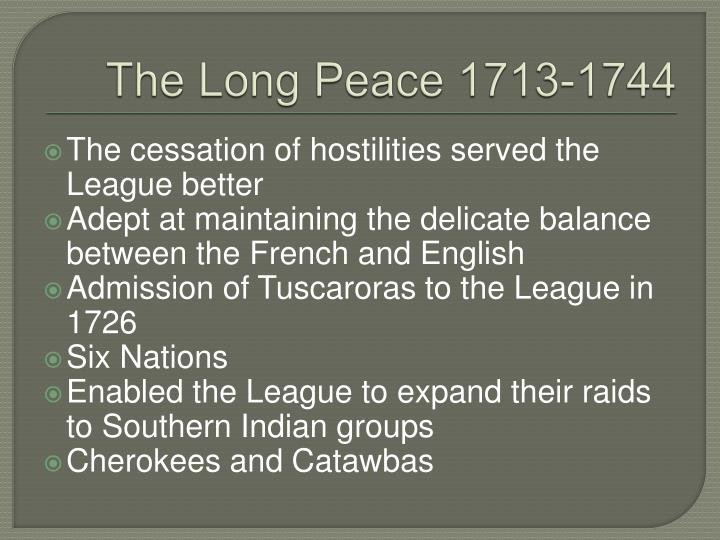 The Long Peace 1713-1744