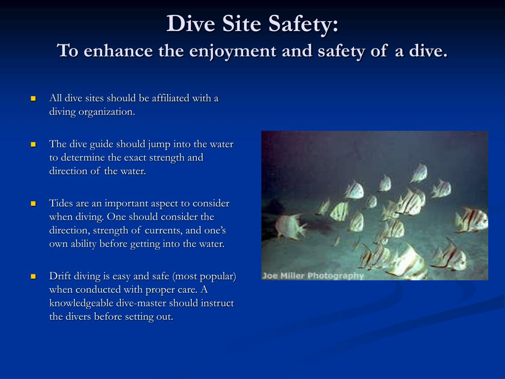 Dive Site Safety: