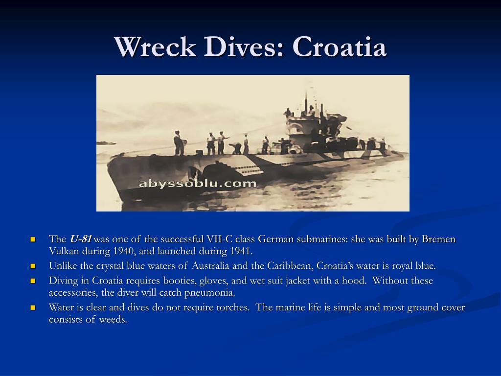 Wreck Dives: Croatia