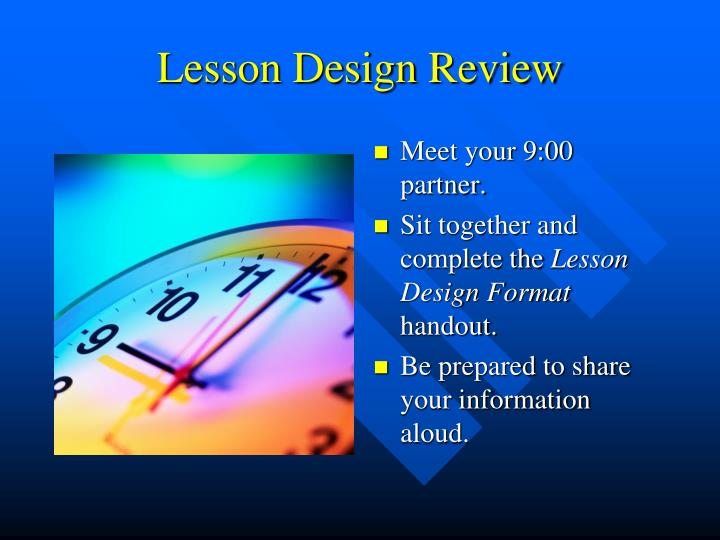Lesson Design Review