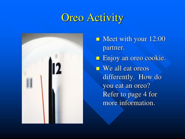 Oreo Activity