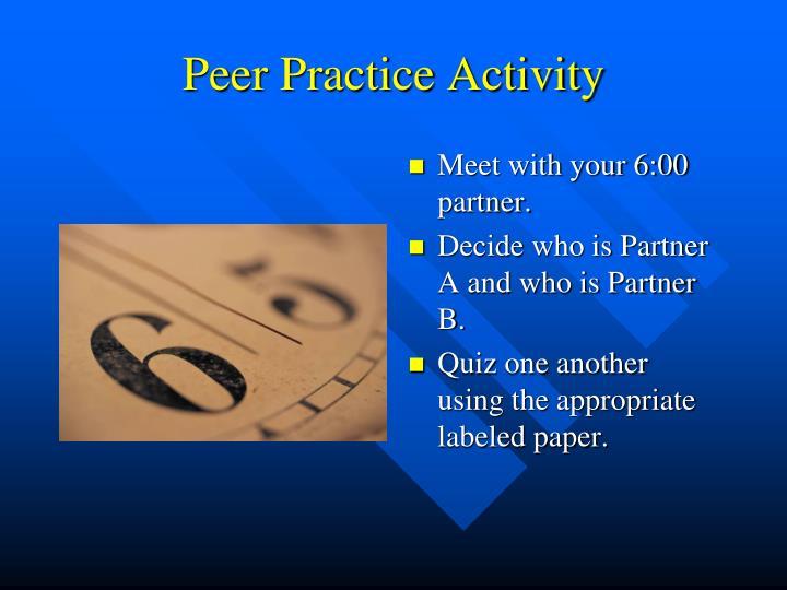 Peer Practice Activity