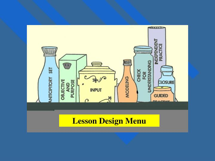 Lesson Design Menu