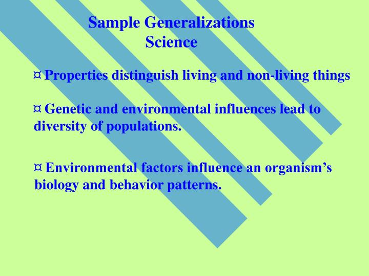 Sample Generalizations