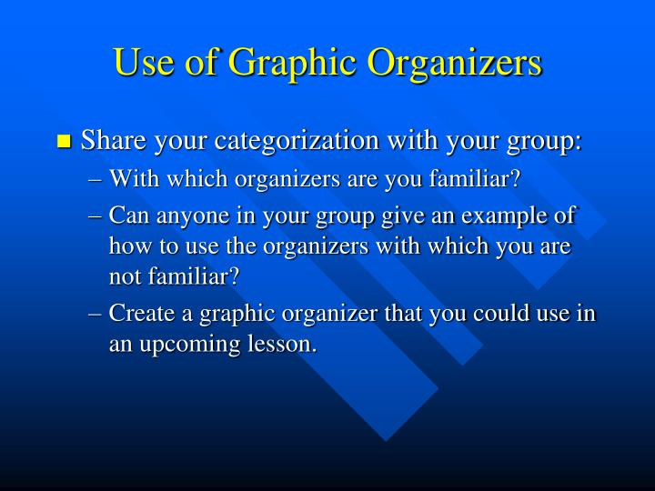 Use of Graphic Organizers