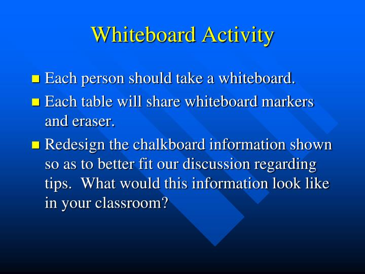 Whiteboard Activity