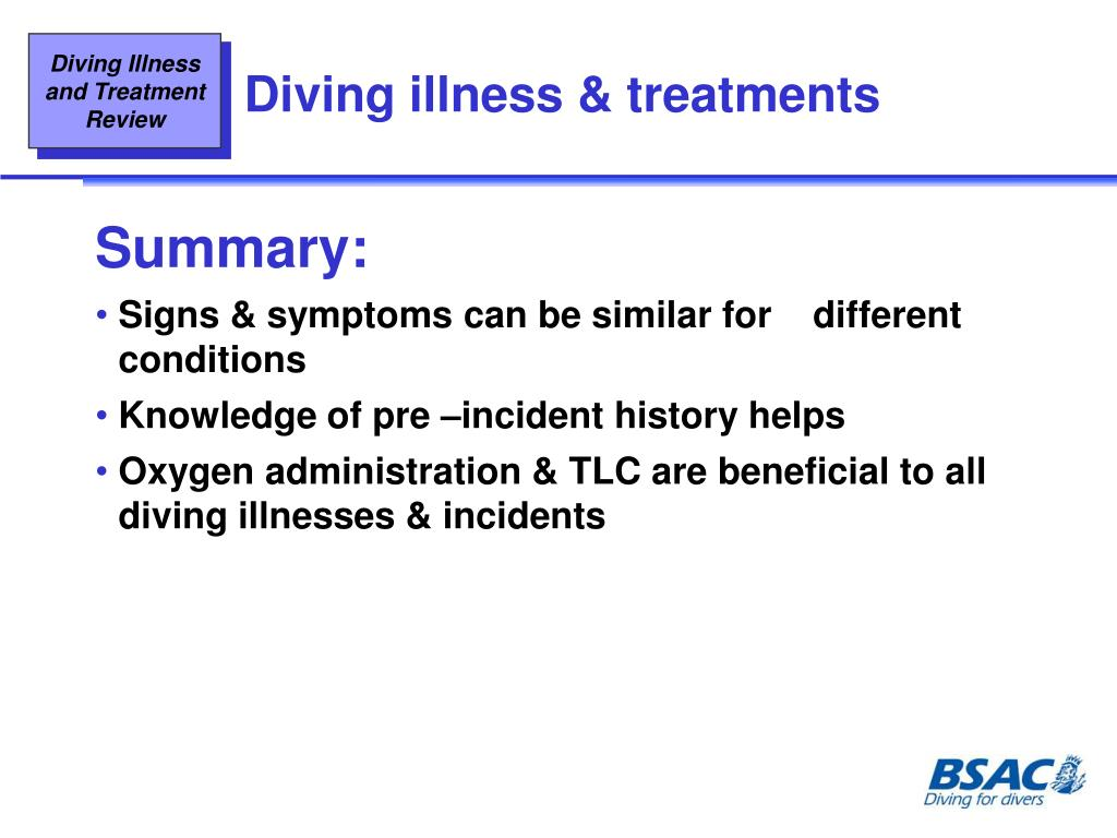 Diving illness & treatments