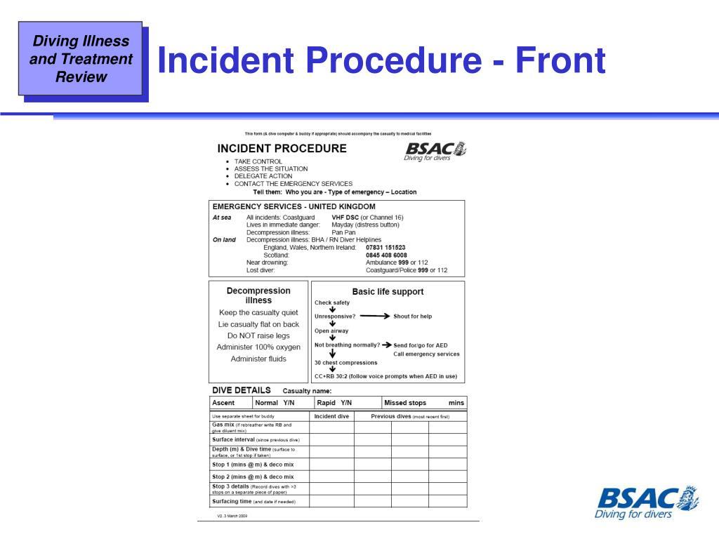Incident Procedure - Front