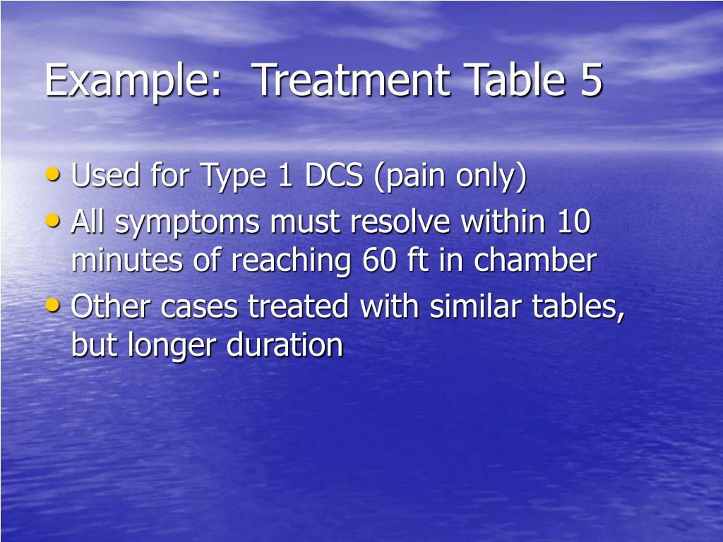 Example:  Treatment Table 5