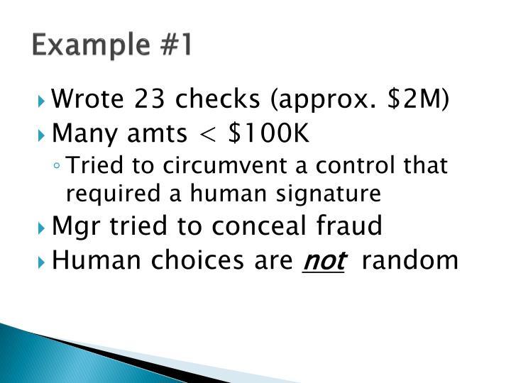 Example #1
