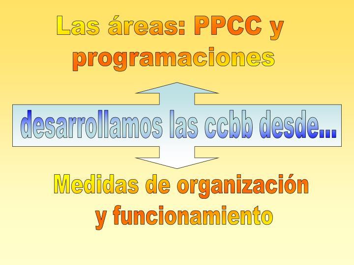 Las áreas: PPCC y