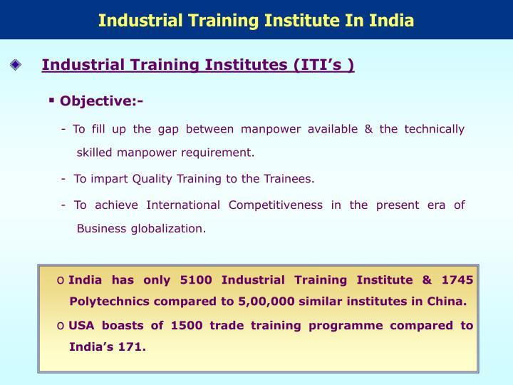 Industrial Training Institute In India