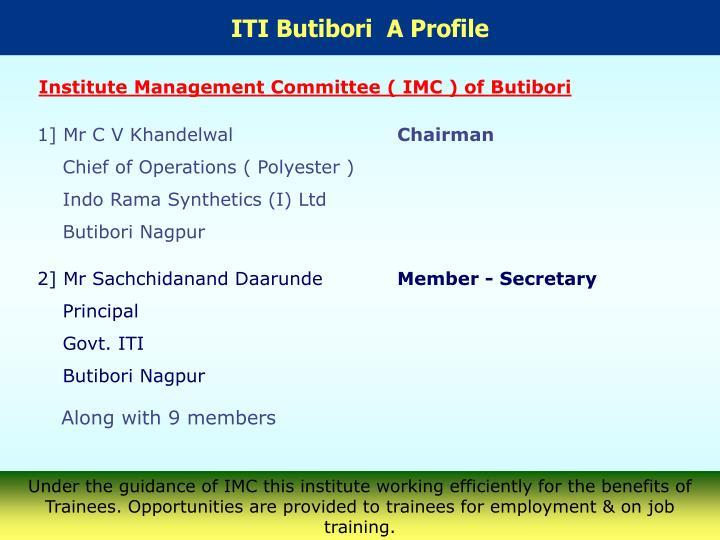 ITI Butibori  A Profile