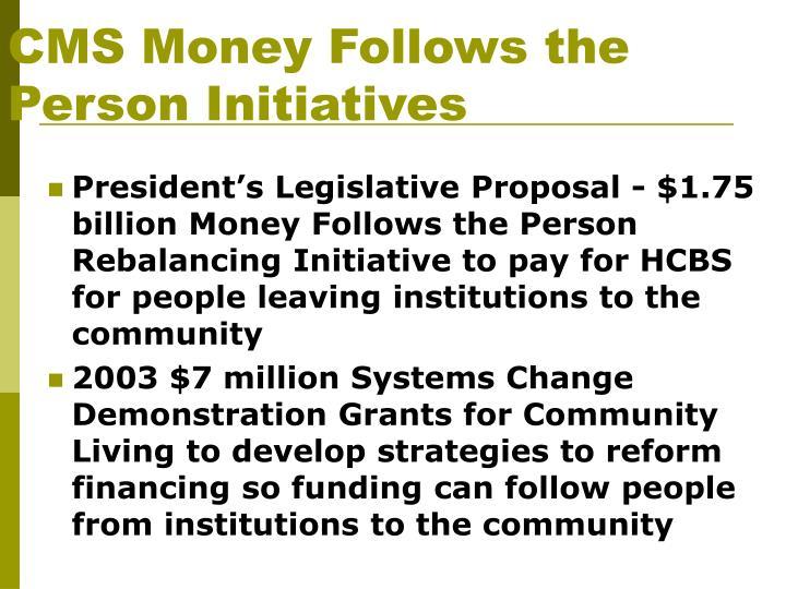 CMS Money Follows the Person Initiatives
