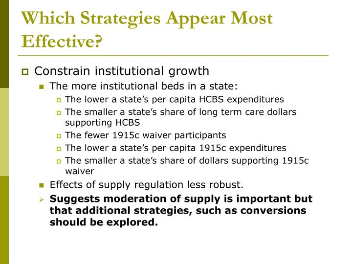 Which Strategies Appear Most Effective?