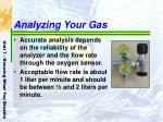 analyzing your gas