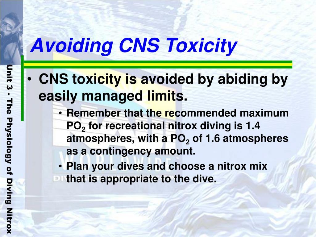 Avoiding CNS Toxicity