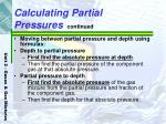 calculating partial pressures continued