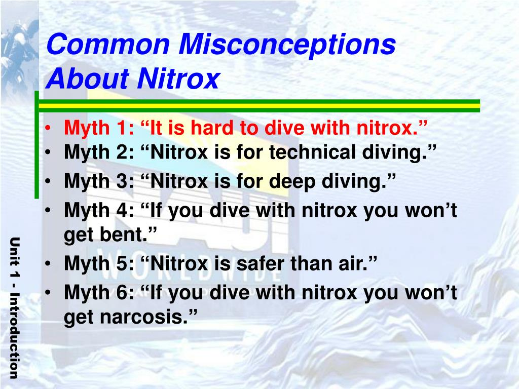 Common Misconceptions About Nitrox