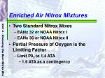 enriched air nitrox mixtures