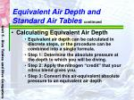 equivalent air depth and standard air tables continued54