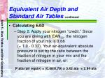 equivalent air depth and standard air tables continued56