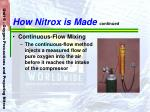 how nitrox is made continued