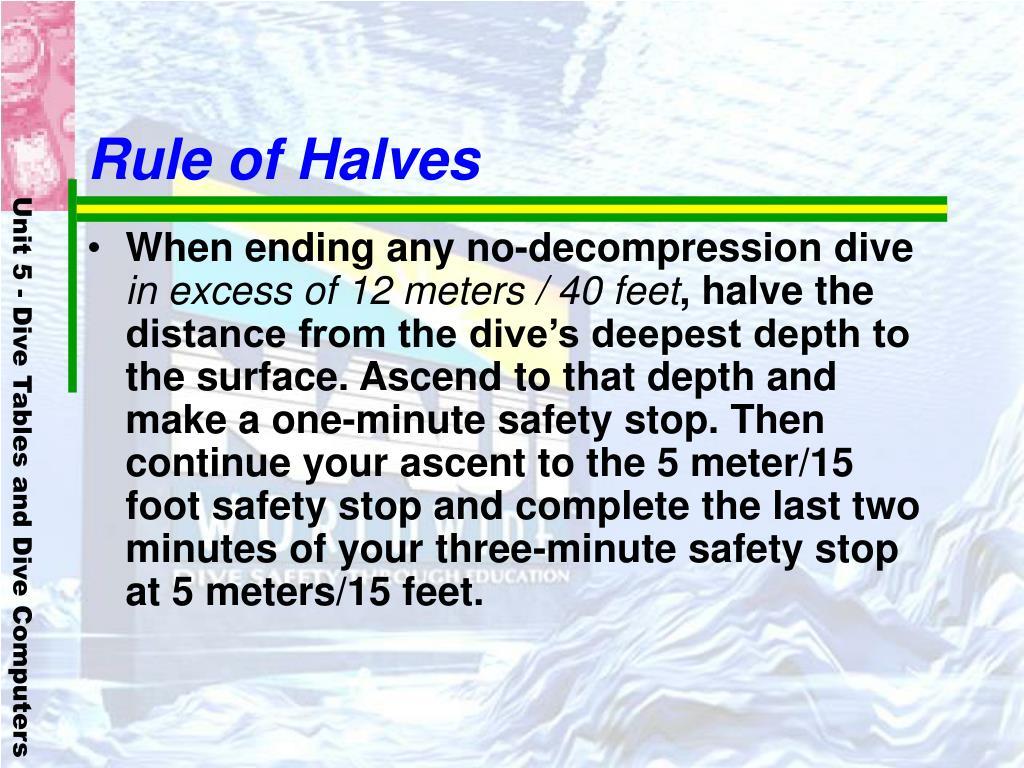 Rule of Halves