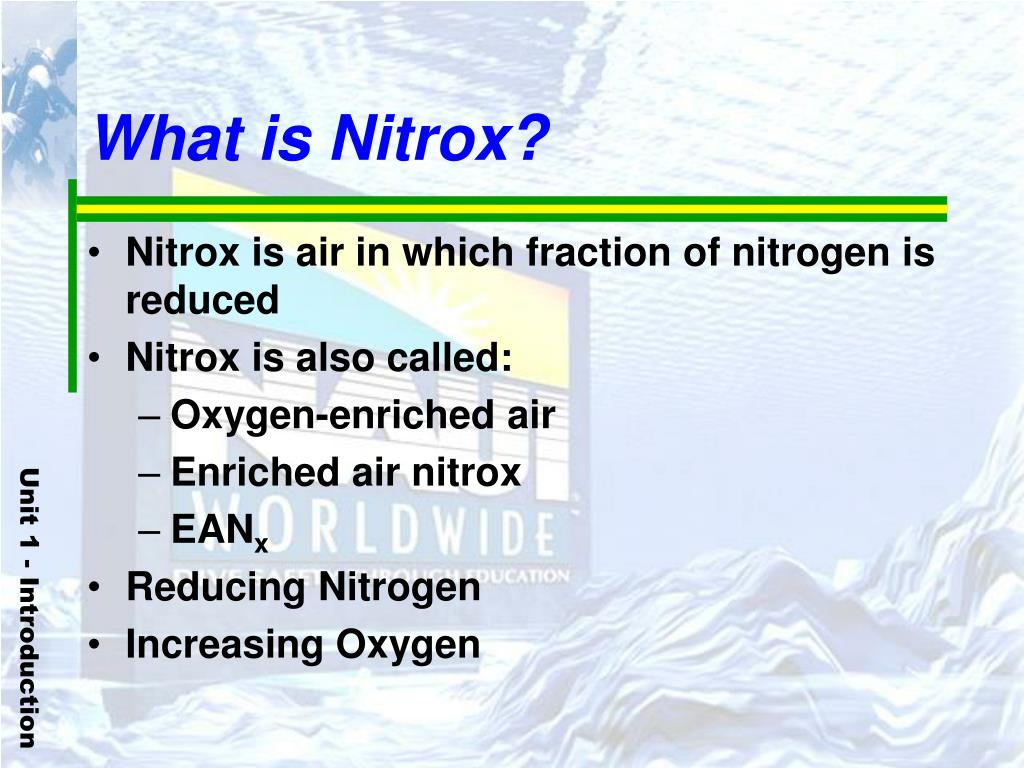 What is Nitrox?