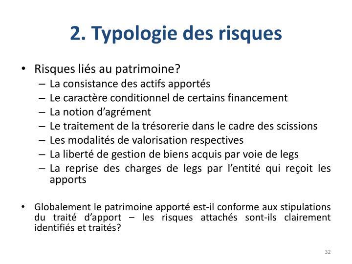 2. Typologie des risques