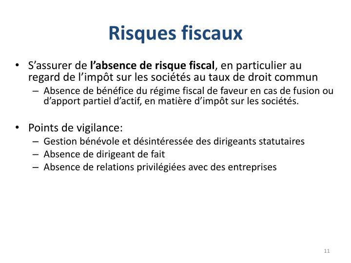 Risques fiscaux