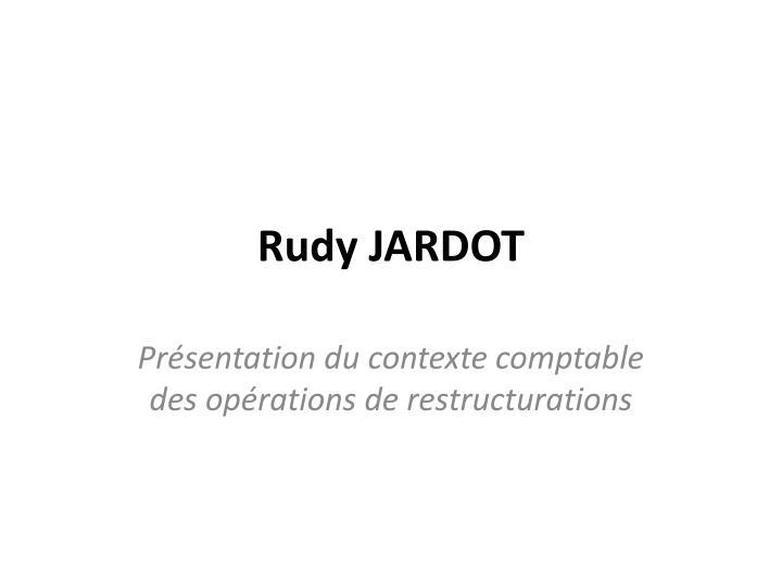 Rudy JARDOT